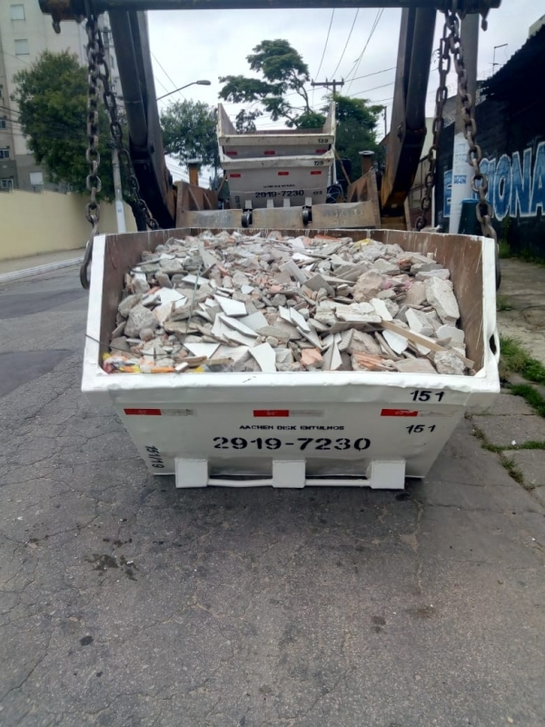 Aluguel de Caçamba para Obra Sapopemba - Aluguel de Caçamba para Construção