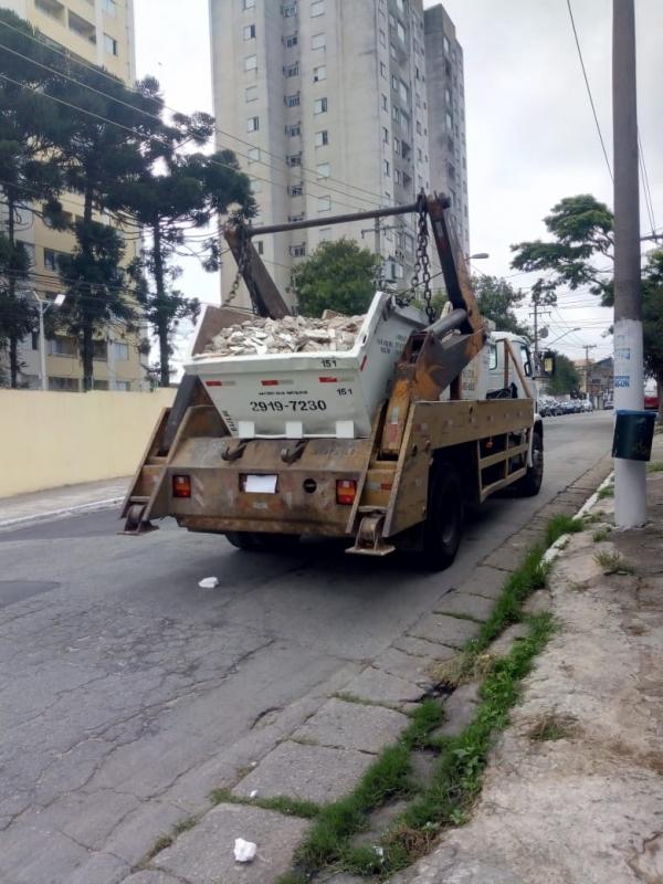 Onde Tem Locação de Caçamba para Entulho Parque Santa Madalena - Locação de Caçamba Construção Civil